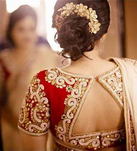 Contrast Blouse Back Neck Design Bridal Blouse Designs With Maggam Work For Wedding