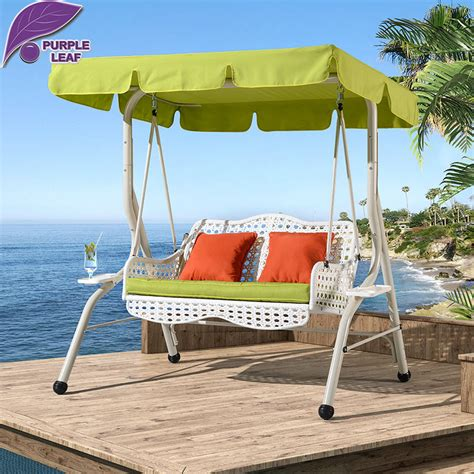 covered hammock bed purple leaf outsunny hammock rattan wicker covered patio