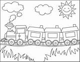 Train Coloring Pages Thomas Printable Trains Colouring Sheet Cars Sheets Colour Children Line Story sketch template