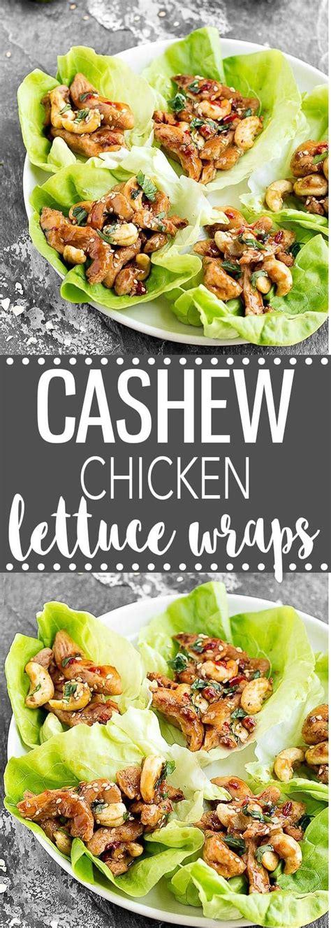 quoi cuisiner cashew chicken lettuce wraps recette poulet recettes et cuisiner