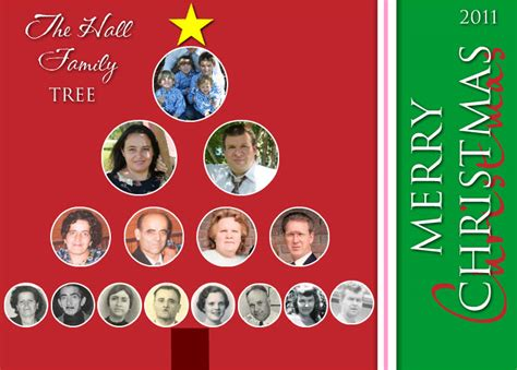 preserving heritage christmas family tree card