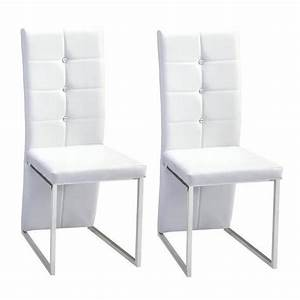 bling lot de 2 chaises de salle a manger strass blanches With salle À manger contemporaineavec chaises blanches salle a manger