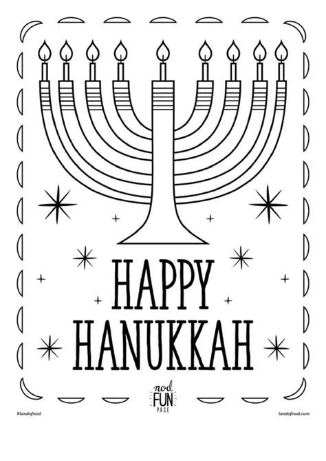 happy hanukkah coloring sheet printable