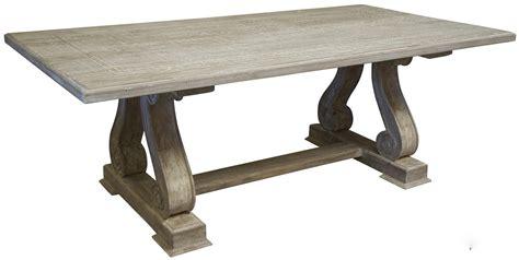 Trestle Wood Dining Table  Dining Room Ideas