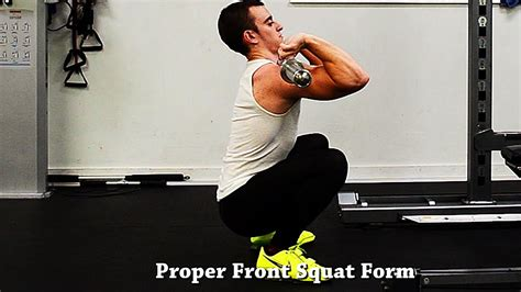 how to front squat with proper form youtube
