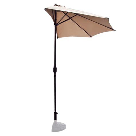 10 ft half patio umbrella beige outdoor wall balcony