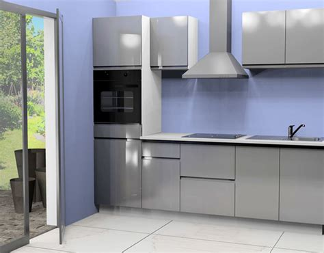 fabricant caisson cuisine cuisine complete avec electromenager mana gris brillant
