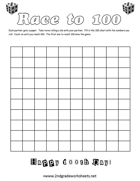 kindergarten 100 days of school worksheets coloring
