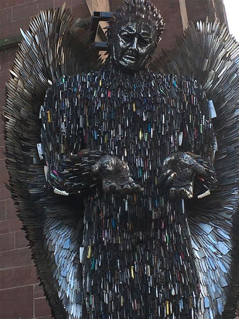 knife angel visits liverpool st charles st thomas catholic