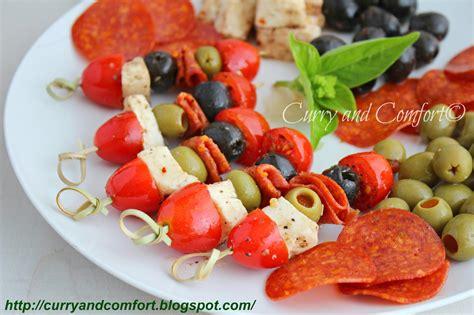 finger food appetizers kitchen simmer antipasto kebab appetizers