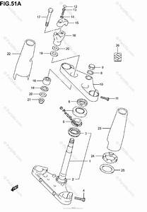 Suzuki Motorcycle 2004 Oem Parts Diagram For Steering Stem  Model K5