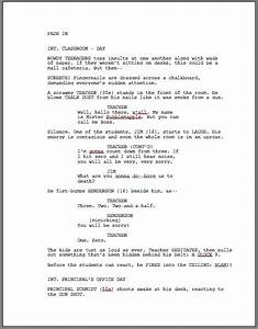 how to format a screenplay learning the screenwriting formula With free movie script template