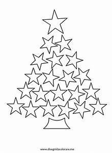 Albero di Natale con stelle Disegni da colorare