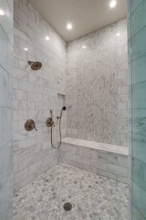 traditional full bathroom  handheld shower head
