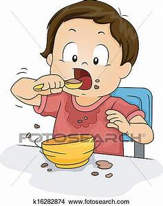 Clipart of Boy Eating k16282874 - Search Clip Art ...