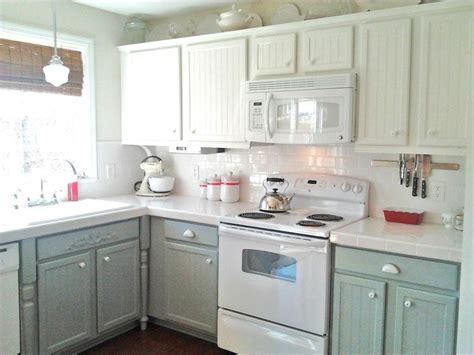 vintage white kitchen cabinet refacing