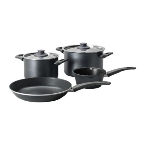 ikea cookware piece pots cooking pans sauce skanka grey sets