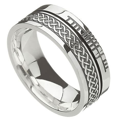 celtic ring comfort fit faith celtic knot