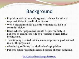 assisted suicide research paper outline