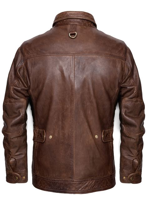 mango vintage leather jacket  brown  men lyst