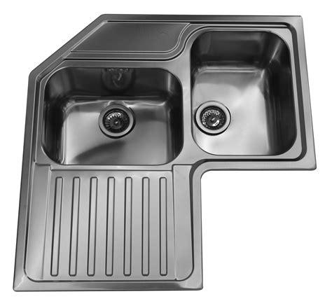 lavello roma ad angolo  cm inox spazzolato  vasche  sgocciolatoio  sinistra bricoman