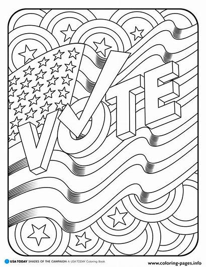 Coloring Vote Pages Printable America Usa Books