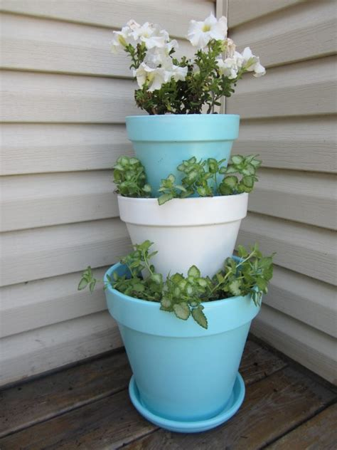 Stacked Flowerpot Ideas Inspire Garden Pics Tips