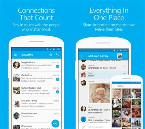 groupme app android chat apps microsoft material ios eztalks sharing text web document messages phone windows calendar updates mspoweruser busy