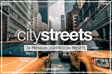 city streets lightroom presets plug ins creative market