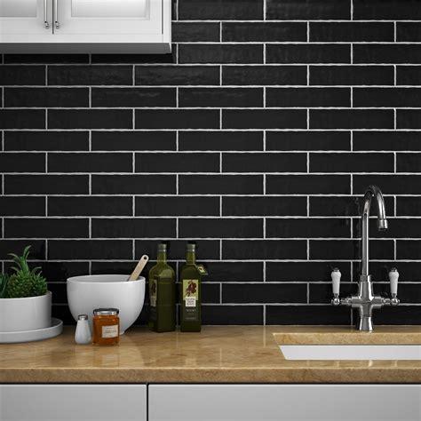 black gloss kitchen tiles black gloss brick tiles kezcreative 4679