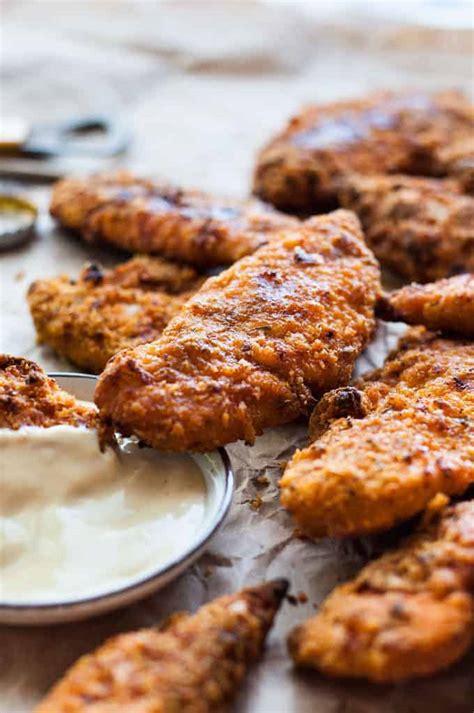 kfc baked oven fried chicken tenders recipetin eats