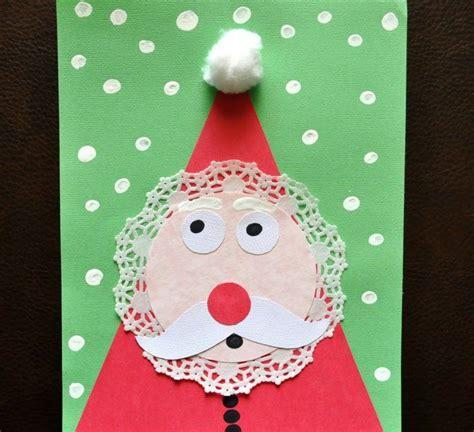 basteln sie eine weihnachtskarte mit einem weihnachtsmann bastelarbeiten weihnachten advent