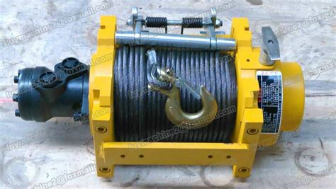 5 ton horizontal pull hydraulic winch with 60m wire rope and hook t luy china manufacturer