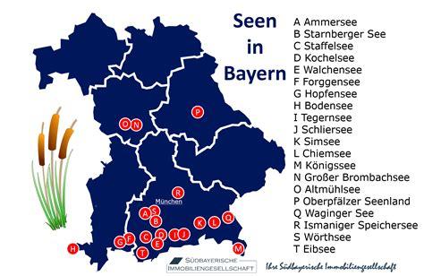 Bayern Karte Seen
