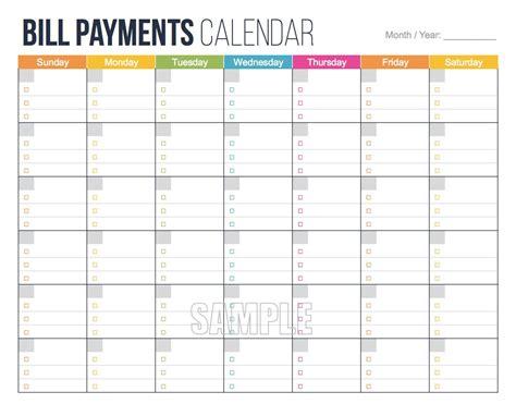monthly bill organizer notebook bill payments calendar editable personal finance
