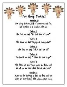 free thanksgiving reader s theater five plump turkeys