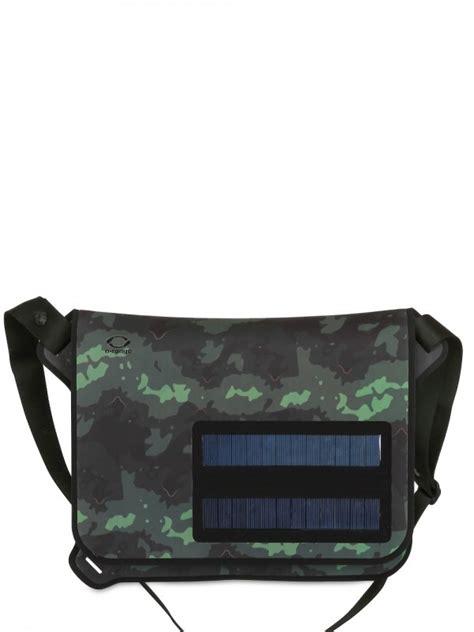 o range waterproof solar panels messenger bag in green for lyst
