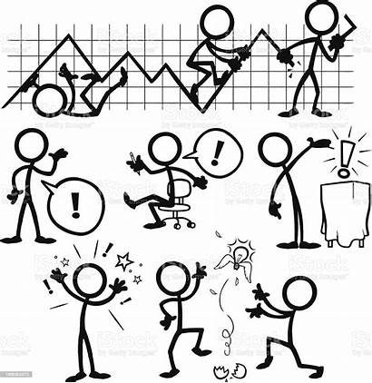 Stick Figure Figures Business Vector Illustration Drawings