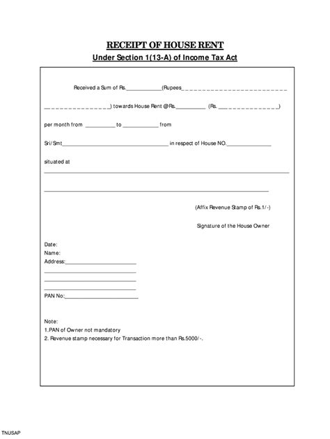 House Rent Receipt Format Pdf - Fill Online, Printable ...