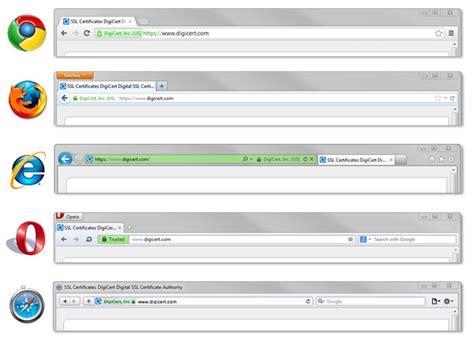 enable green address bar  web browsers digicertcom