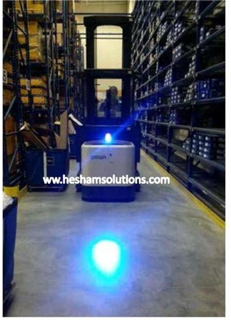 blue led forklift safety spotlight   rs  piece