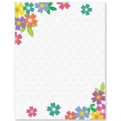Flower Border Paper Printable