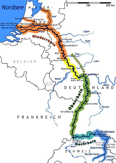 Carte Fleuve Rhin rhin wikimini l encyclop 233 die pour enfants