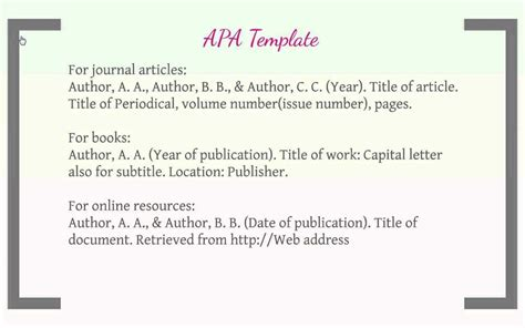 how to format an apa works cited list easybib