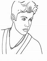 Bieber Justin Coloring Singer Pages Pop Famous Celebrities Canadian Drawing Singers Cool Prince Country Printable Print Drawings Sheets Waverly Place sketch template