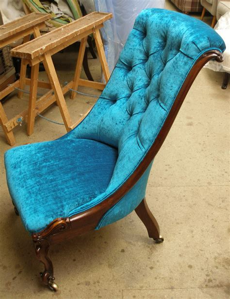 victorian rosewood slipper chair sold njh upholstery