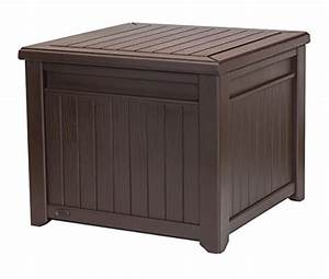 Keter Cube Wood-Look 55 Gallon All-Weather Garden Patio