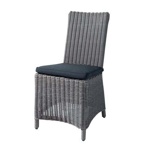 chaise de jardin coussin en r 233 sine tress 233 e et tissu