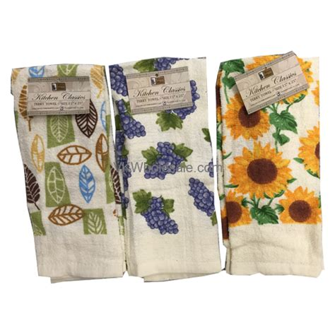 "Better Home Kitchen Terry Towel 15"" X 25"" Wholesale"