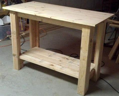 how to make a work table ana white work bench diy projects